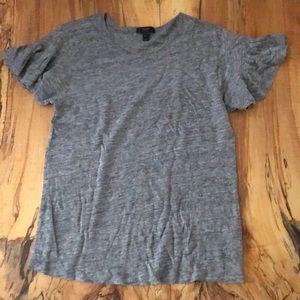 J.crew linen flutter sleeve T-shirt